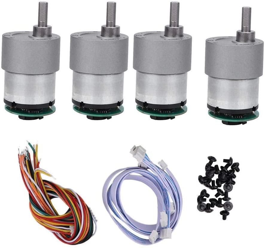 V GEBY Speed Encoder Motor, Mecanum Wheels with High Speed Encoder Motor Smart DIY Robot Platforms