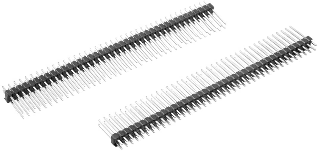 uxcell 10Pcs 2.54mm Pitch 40-Pin 15mm Length Double Row Straight Connector Pin Header Strip for Arduino Prototype Shield