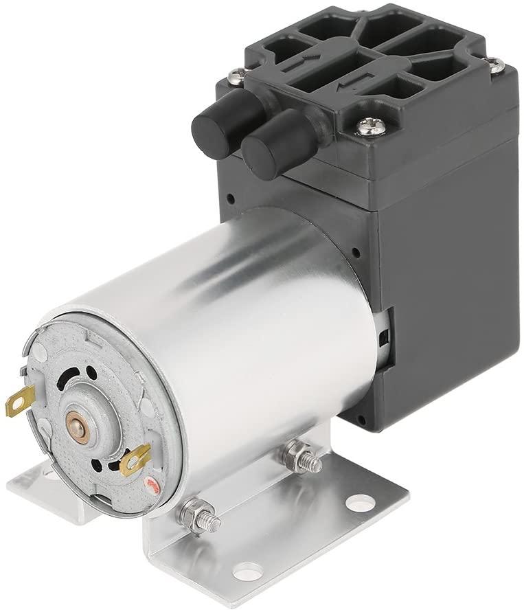Zerone Vacuum Pump, DC 12V 5L/min 120kpa Mini Vacuum Pump Negative Pressure Suction Pumping with Holder