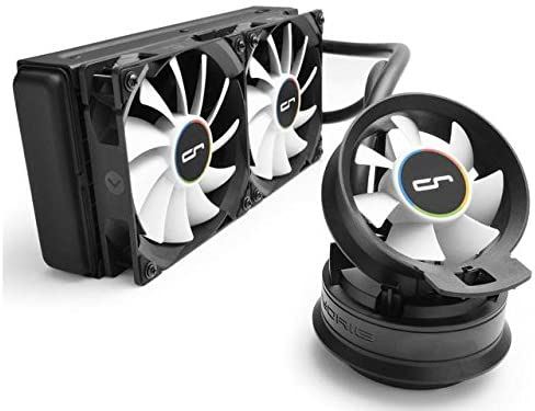 CRYORIG A40 Hybrid Liquid Cooler 240mm Radiator with Additional Airflow Fan