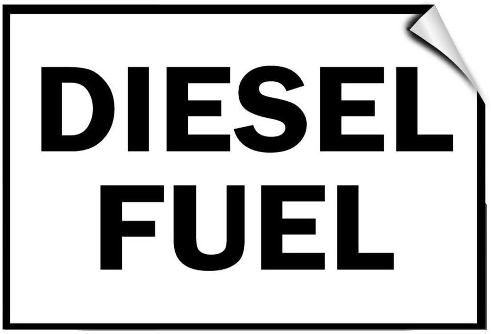 Diesel Fuel Hazard Flammable LABEL DECAL STICKER Sticks to Any Surface
