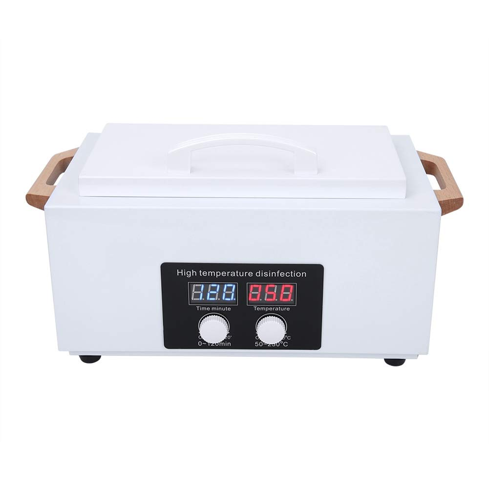 High Temperature Nail Art Manicure Tools Sterilizer, LCD Display Autoclave Disinfection Cabinet for Professional Salon Use and Home Use(US)