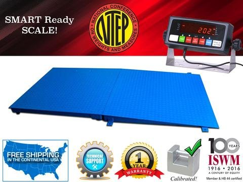 NTEP 5' x 7' (60'' x 84'') Floor Scale with Ramp 5,000 lbs x 1 lb/Industrial