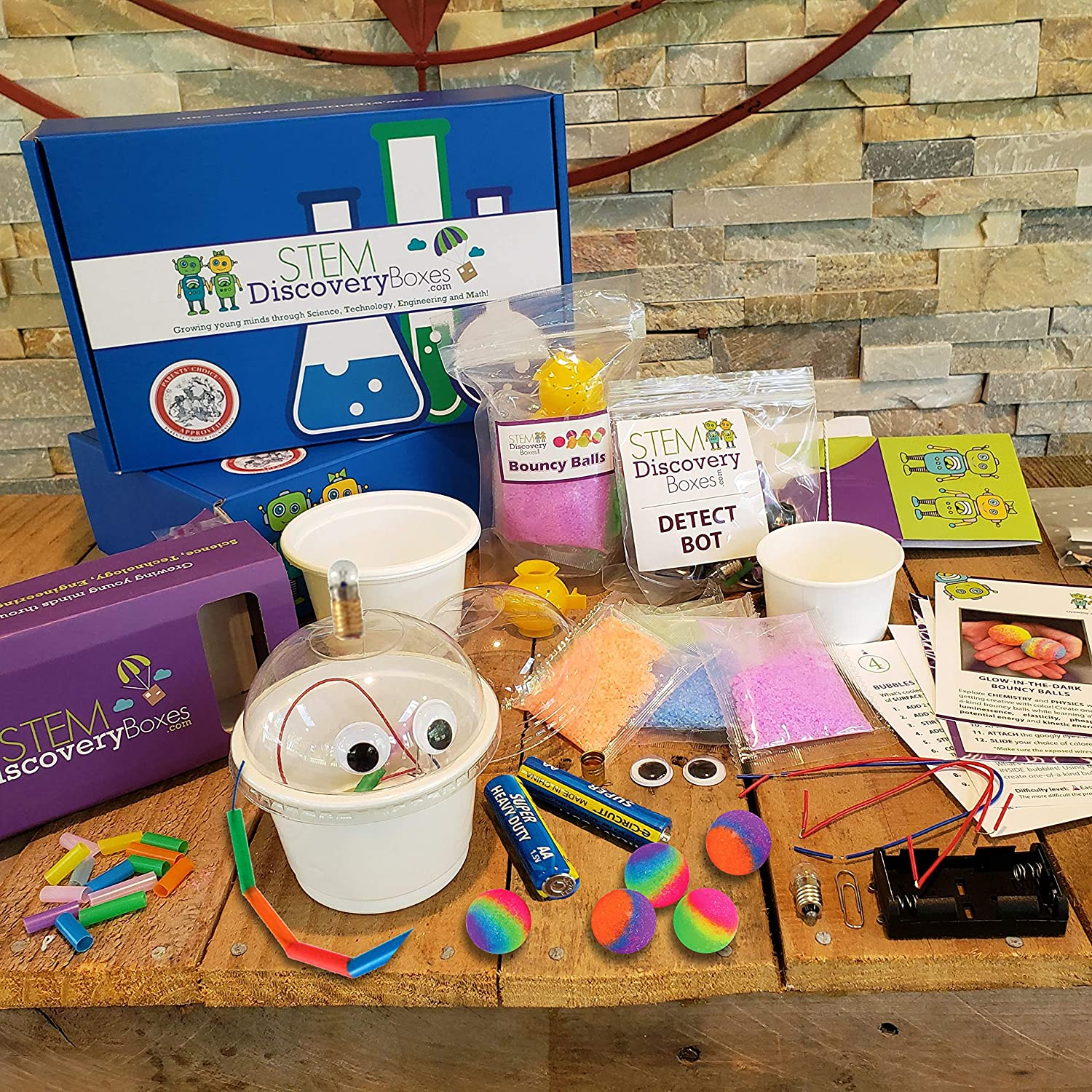 STEM Discovery Boxes - 3 Month Subscription - 9 Projects!