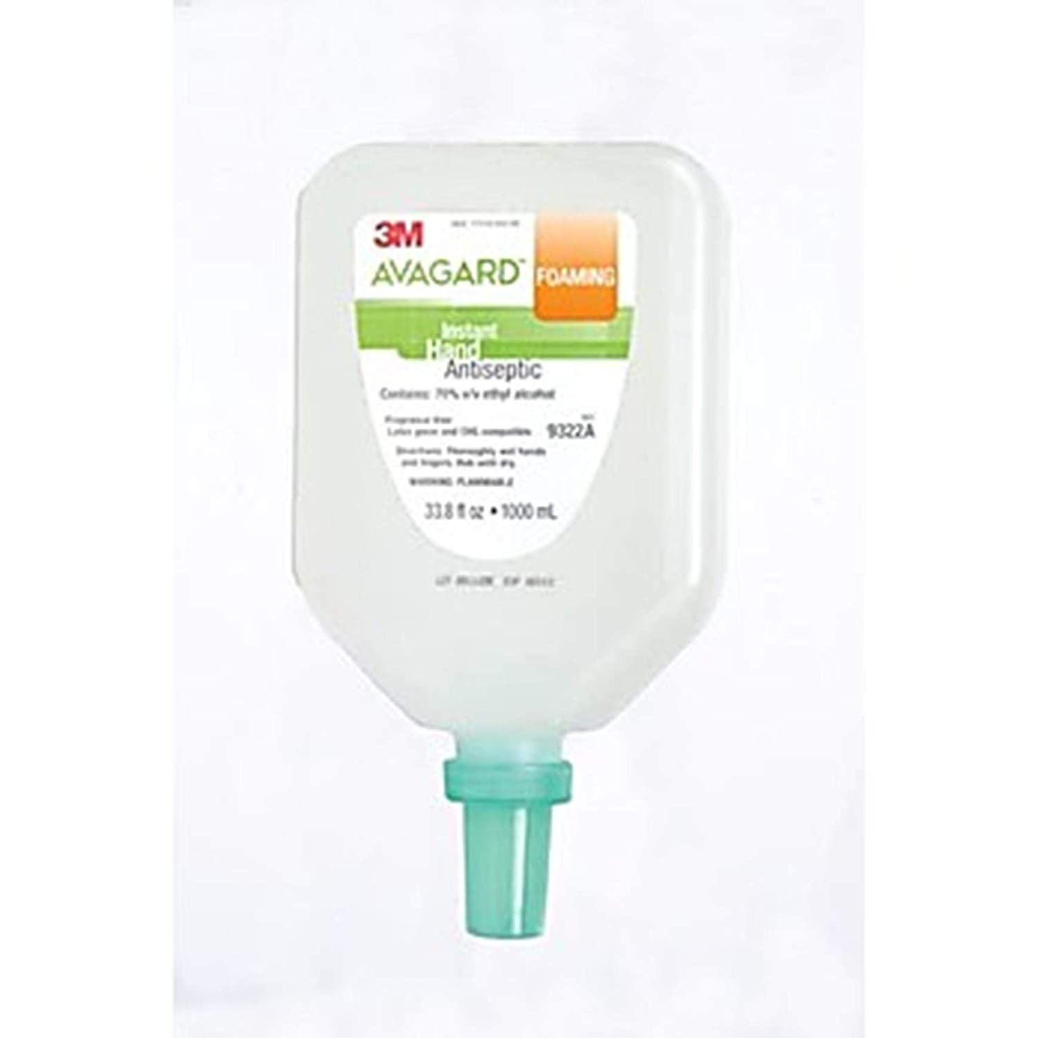 3M Health Care MMM 9321A Avagard Foaming Instant Hand Antiseptic, 500 ml, Pump Bottle (Pack of 12)