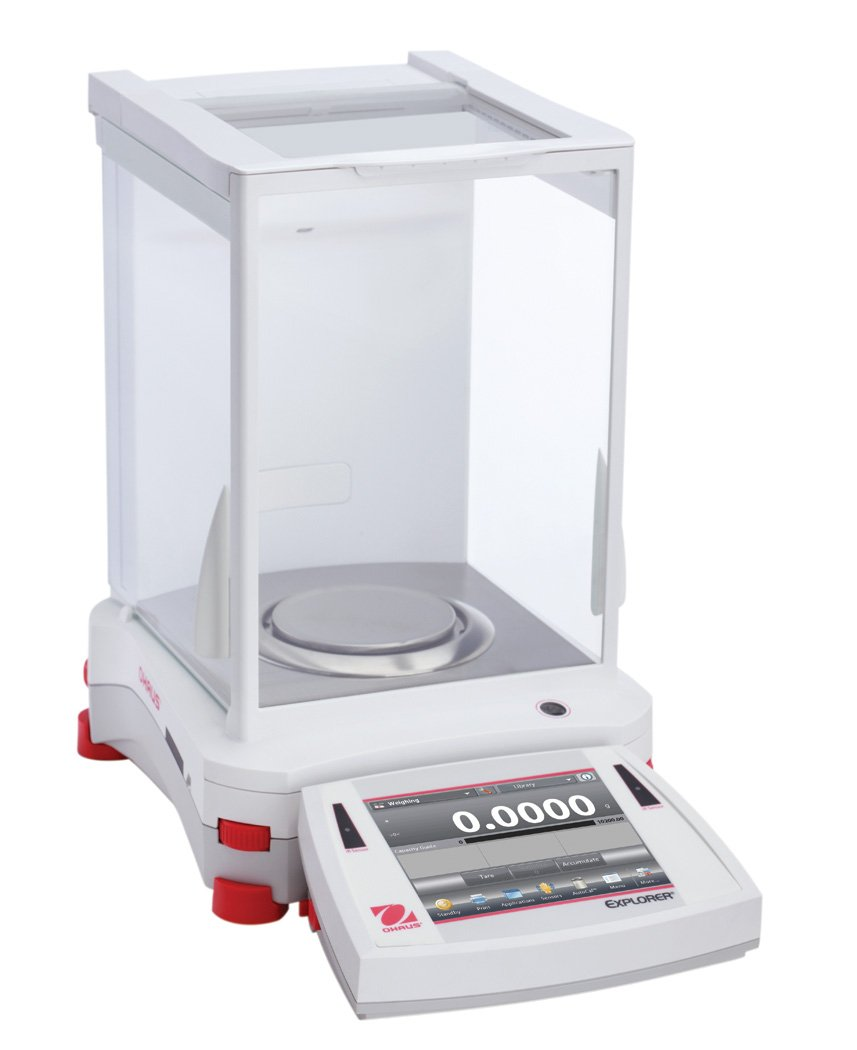 OHAUS 30061976 Model EX124/AD Explorer Analytical Balance, 120g Capacity, 0.1 mg Readability