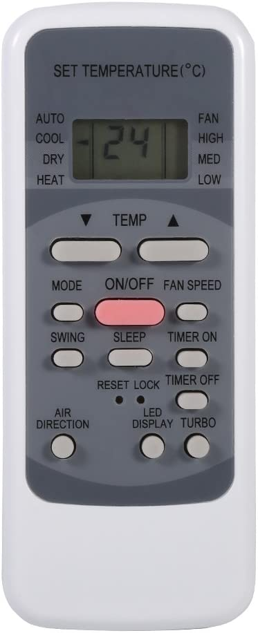 Portable Air Conditioner Remote Control, VBESTLIFE Built-in Clock and Timer Remote Control Replacement for Midea R51M/E