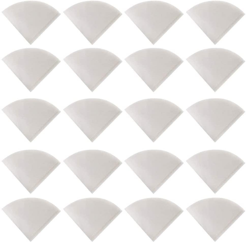 Hemoton 50pcs White Paper Filters Paper Coffee Filter V02 Filter