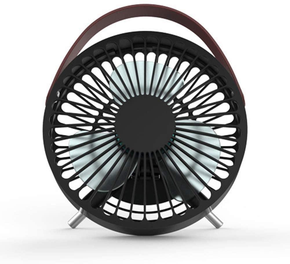 Heaven2017 Portable Handled Mini USB Desk Fan Quiet Air Cooler