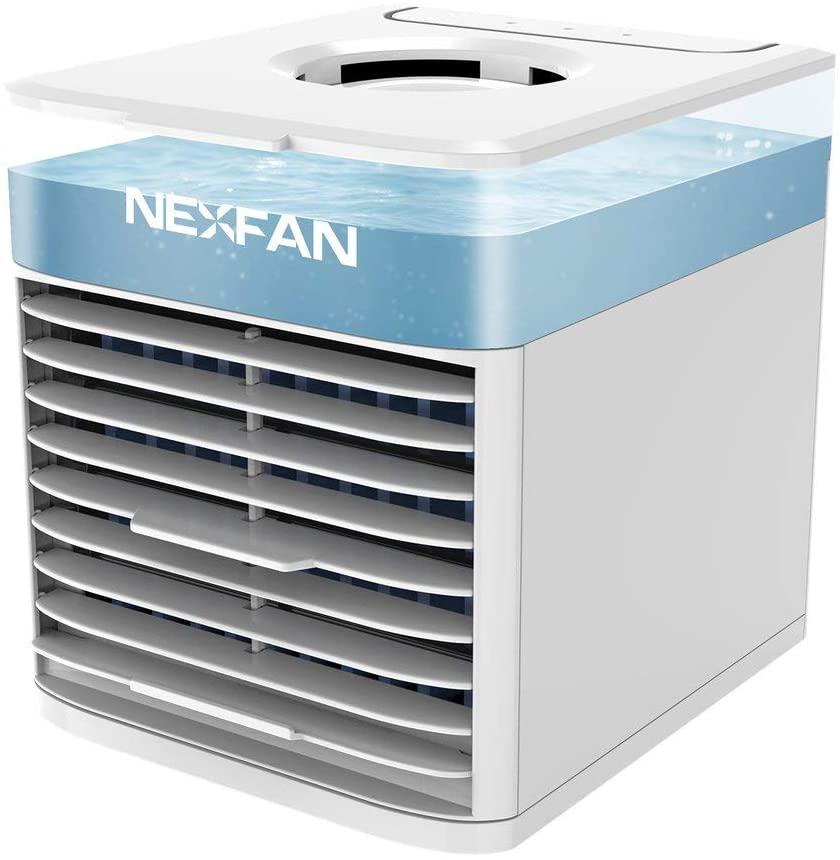 Instant Cooling Evaporative Humidifier Air Cooler - Touch Control 3 Speed Wide Angle Powerful Fan - USB Charging Quiet High Efficiency - Leak Proof Ice Water Tank - Compact Portable for Office Home