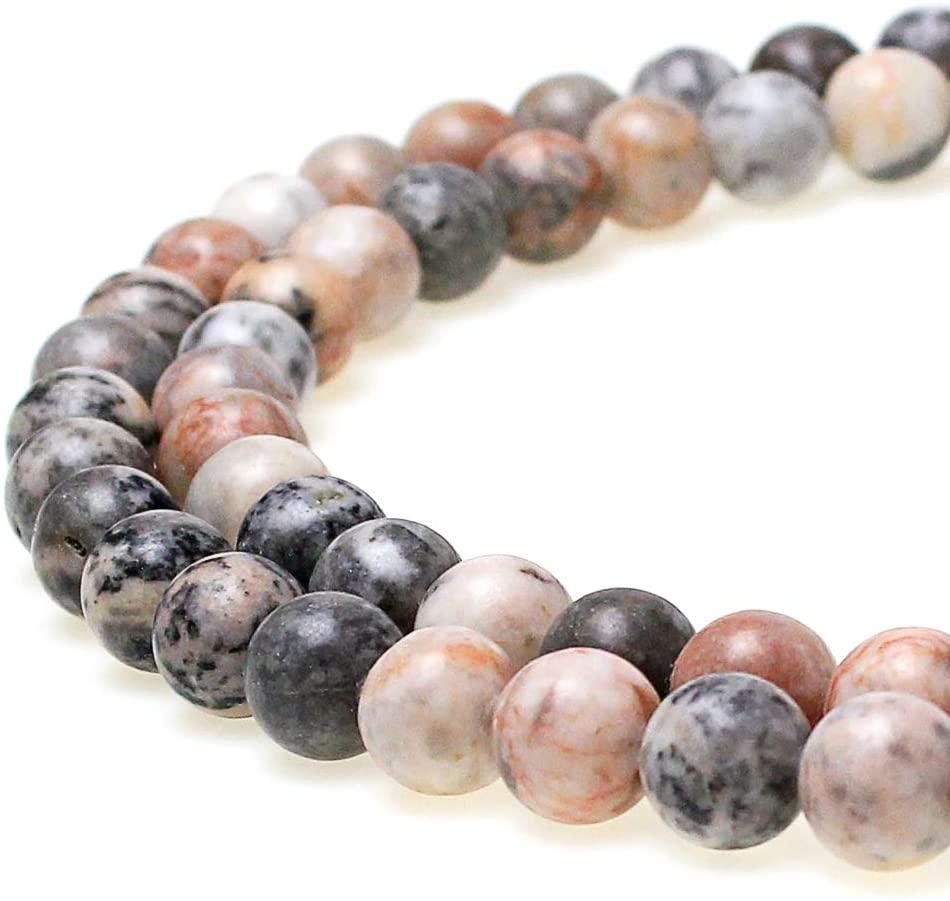 JARTC Natural Pink Zebra Jasper Gemstone Loose Beads 8mm Crystal Energy Stone Healing Power for Jewelry Making (8mm)