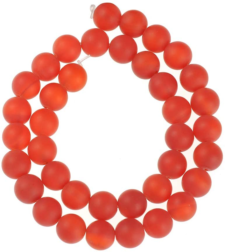 Natural Stone Beads 4mm Red Agate Gemstone Matte Beads Round Loose Beads Crystal Energy Stone Healing Power for Jewelry Making DIY,1 Strand 15