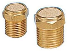 PneumaticPlus BV-28 Sintered Bronze Breather Vent - Brass Body 1/4