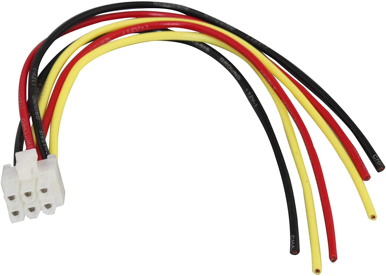 Yongjiangxia 6 Pin High Level Input Plug Wire Harness For Alpine Amp Amplifier ERA G320 EQ