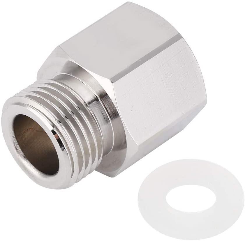 SOONHUA TR21-4 to W21.8 Soda Stream Adapter Silver Aluminum Refill Converter Accesssory for Aquarium Cylinder