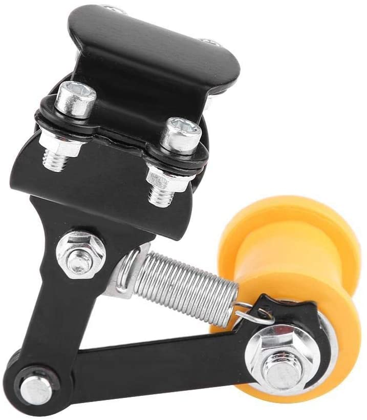 Enrilior Adjuster Chain Tensioner Bolt On Roller Motorcycle Modified Accessories Universal Tool Black