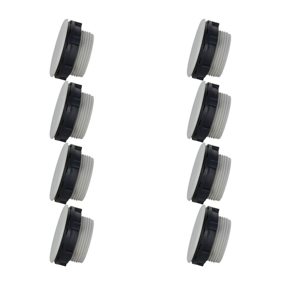 Fielect 22mm Grey Plastic Push Button Switch Hole Panel Plug Signal Indicator Light Button Switch 8Pcs