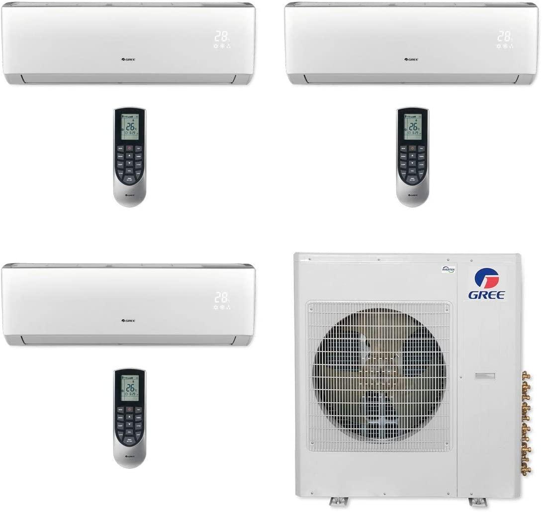 GREE MULTI42CVIR311-42,000 BTU Multi21+ Tri-Zone Wall Mount Mini Split Air Conditioner Heat Pump 208-230V (12-18-18)
