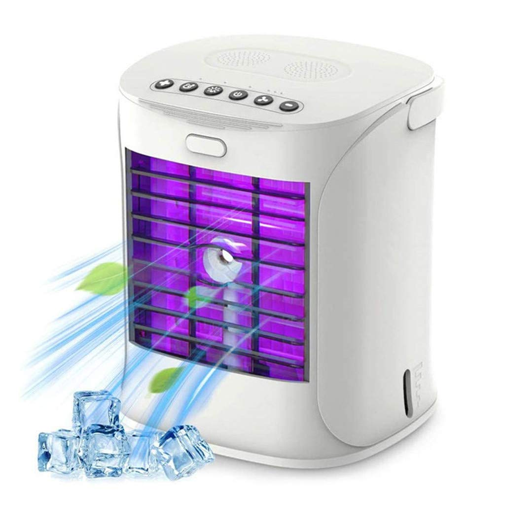 Ninasill 2020 Portable Mini Air Conditioner,Rechargeable Water-Cooled Air Conditioner Eco-Friendly, Ultra-Quiet Electric Fan, Cooling Cooler Spray Humidifier with USB for Dormitory Office Desktop