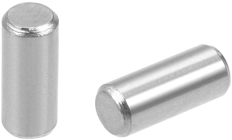 uxcell 20Pcs 5mm x 12mm Dowel Pin 304 Stainless Steel Wood Bunk Bed Dowel Pins Shelf Pegs Support Shelves Silver Tone