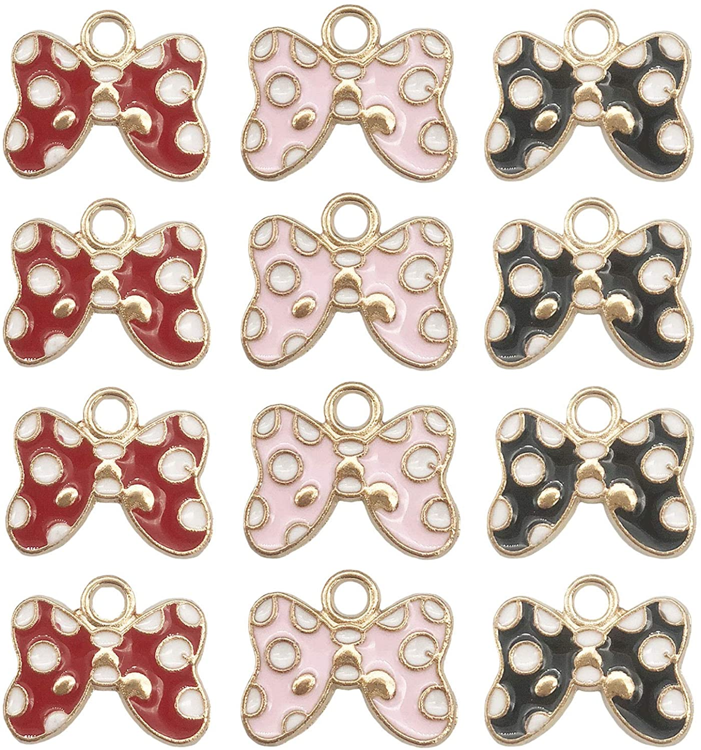 45 Pcs Bow-knot Charms Pendant for Earrings Bracelets Necklace DIY Making Jewelry Making Accessories