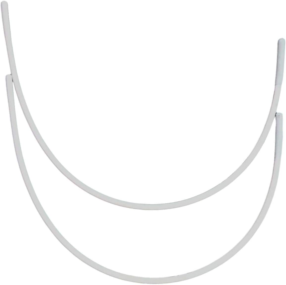 Porcelynne Carbon Steel Replacement Underwire Repair - Nylon Coated - Heavy Gauge Sturdy Wire for Bras - Vertical Wire Size 42-1 Pair - See Pictures for Measurements and How to Order