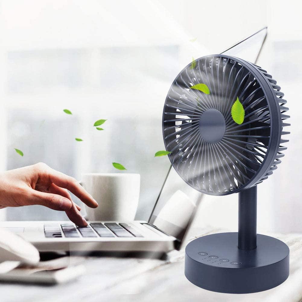 Portable Desktop Fan, Air Cooler USB Mini Fan 90 Degree Shaking Head Mute for Home Office