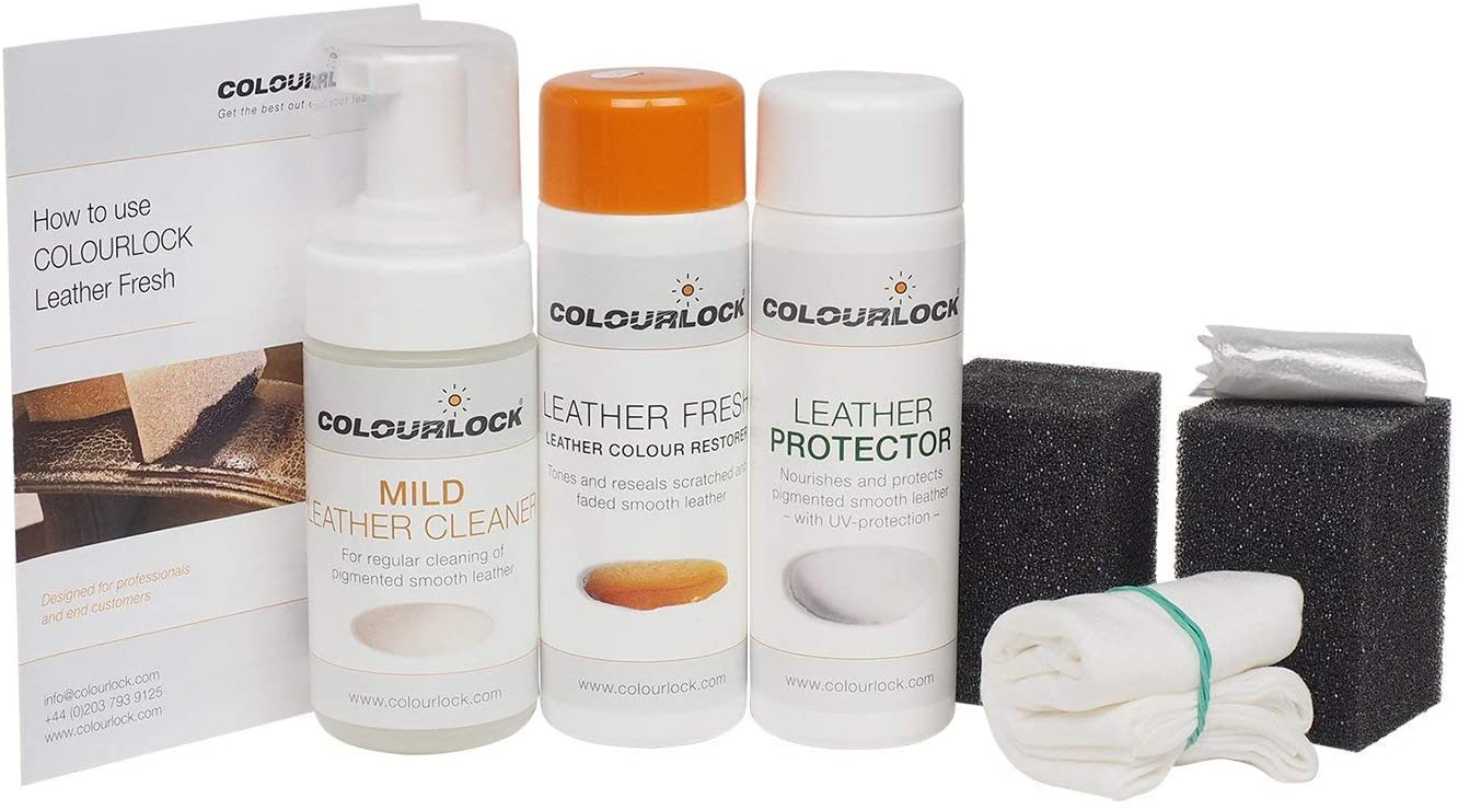 Kit-COLOURLOCK Leather Fresh Dye Kit for La-Z-Boy furniture with Strong Cleaner-Tabac A