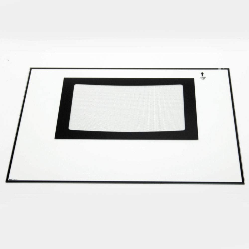 318051527 Range Oven Door Outer Glass Genuine Original Equipment Manufacturer (OEM) Part Black