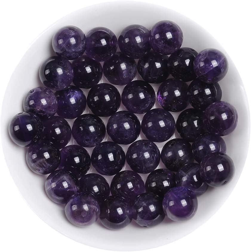6MM Natural Amethyst Beads for Jewelry Making Amethyst Crystal Stone Beads for Bracelet Round Loose Beads
