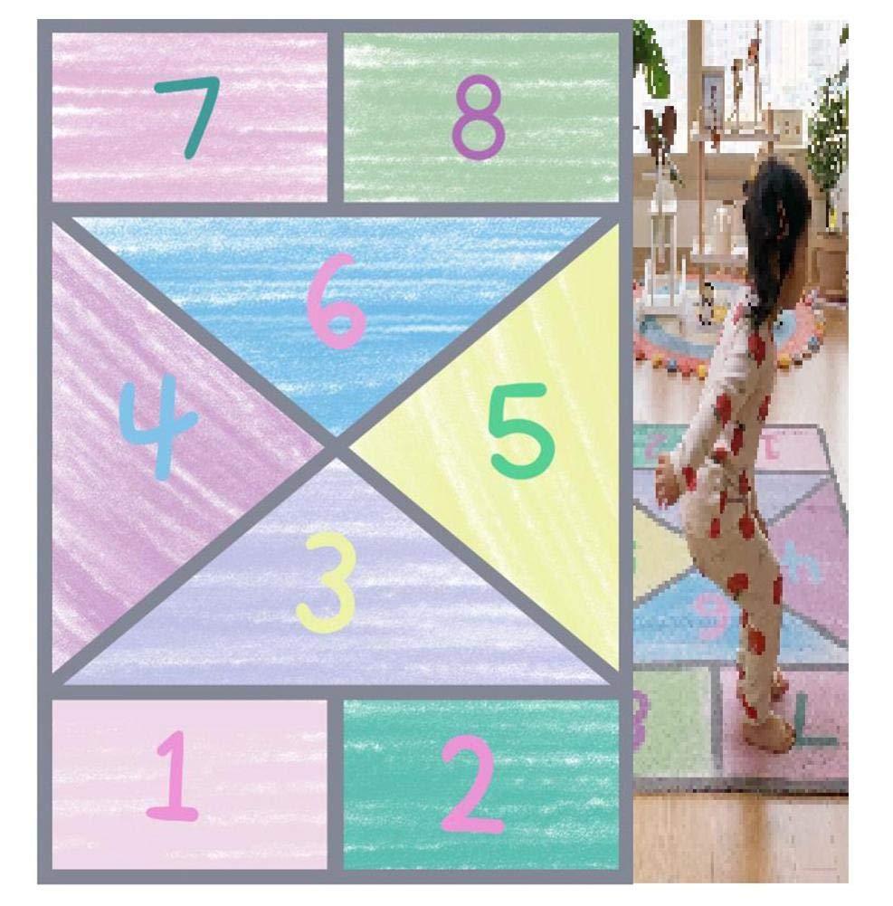 Baby Play Mat, Degital Non Toxic Folding Floor Mat Kids Climb Playmat, Extra-Thickness and Extra-Large Fiber Crawling Cushion for Boy Girl, 39.37 X 57.09 Inch