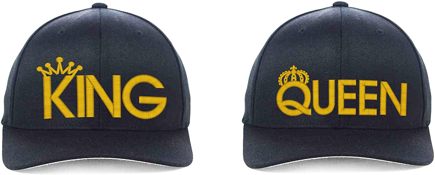 King and Queen Flexfit, Fine Finished Embroideried 6 Color Hat