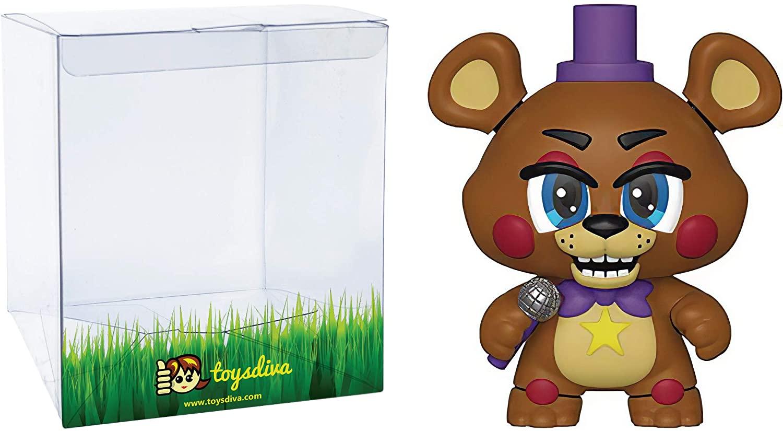 Rockstar Freddy: Funko Mystery Minis Vinyl Figure Bundle with 1 Compatible 'ToysDiva' Graphic Protector (32148 - B)