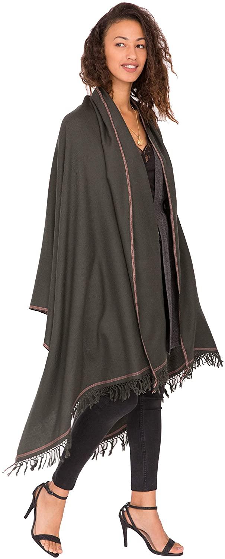 likemary Merino Wool Wrap Shawl & Blanket Scarf Oversize Fairtrade Pashmina Shoreditch 100 x 200cm