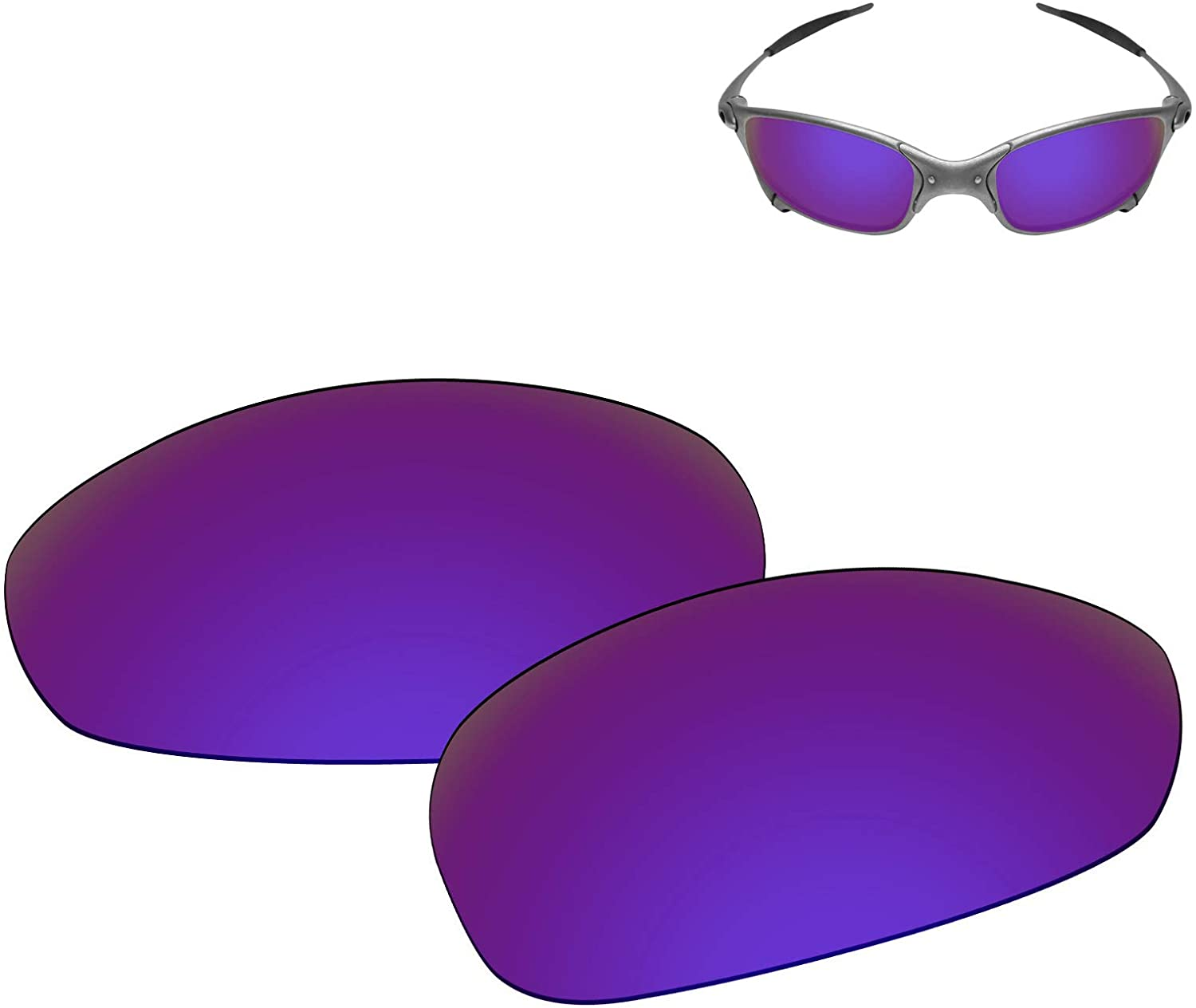Galvanic Replacement Lenses for Oakley Juliet Sunglasses - Multiple Choices