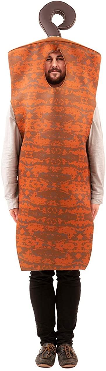 Orion Costumes Mens Doner Kebab Fast Food Fancy Dress Orange