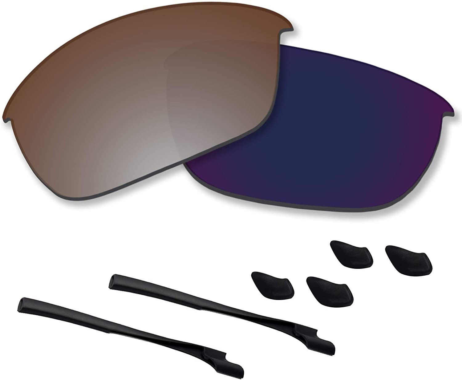 Betterun Polycarbonate Polarized Replacement Lenses/Rubber Kits for Oakley Half Jacket 2.0