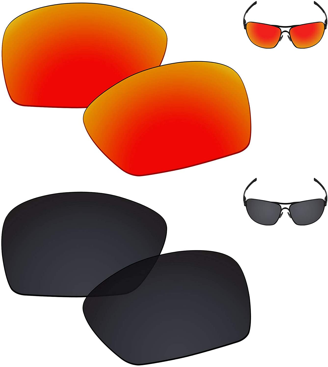 Galvanic Replacement Lenses for Oakley Plaintiff Squared OO4063 Sunglasses - Multiple Choices