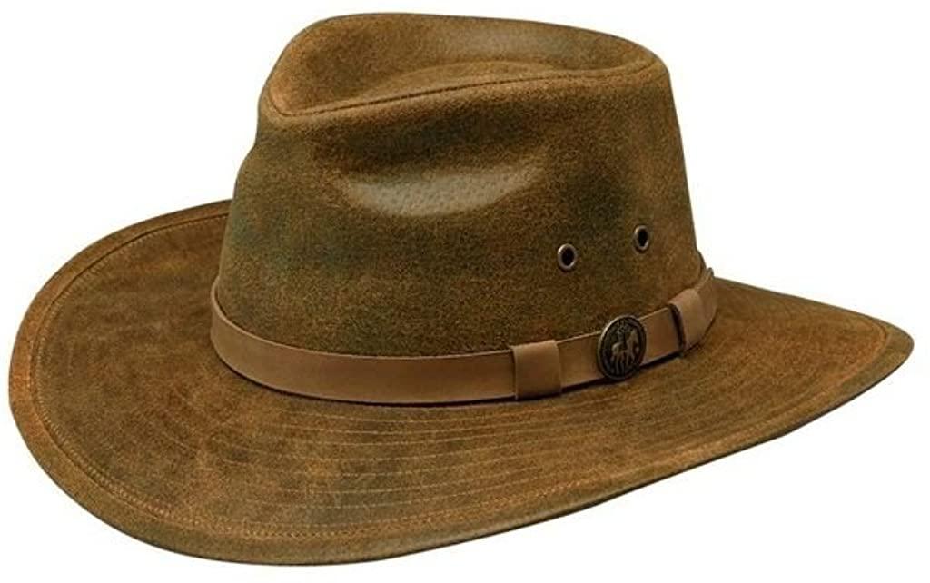 Outback Trading Co Men's Co. Kodiak Leather Hat - 1356