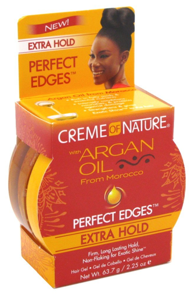 Creme Of Nature Argan Oil Perfect Edges Extra Hold 2.25oz (3 Pack)