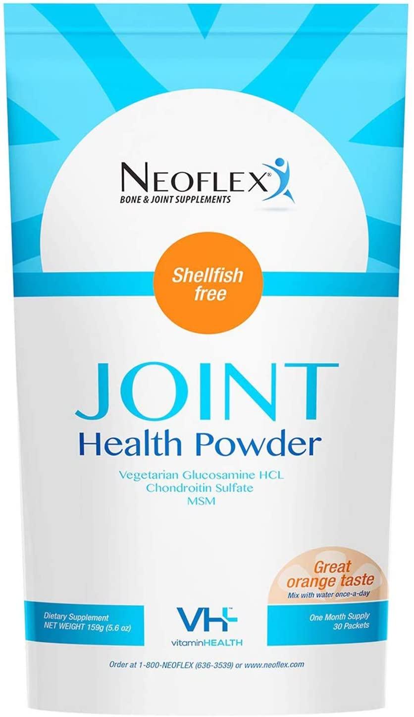 Neoflex Bone & Joint Health Powder Supplement, MSM, Glucosamine, Chondroitin Triple Strength Formula,30 Packets