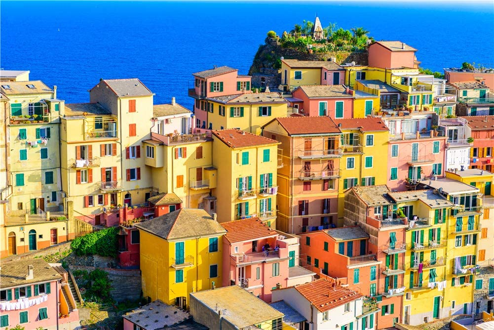 Searock Jigsaw Puzzles for Adults 1000 Piece Italy Rainbow Town