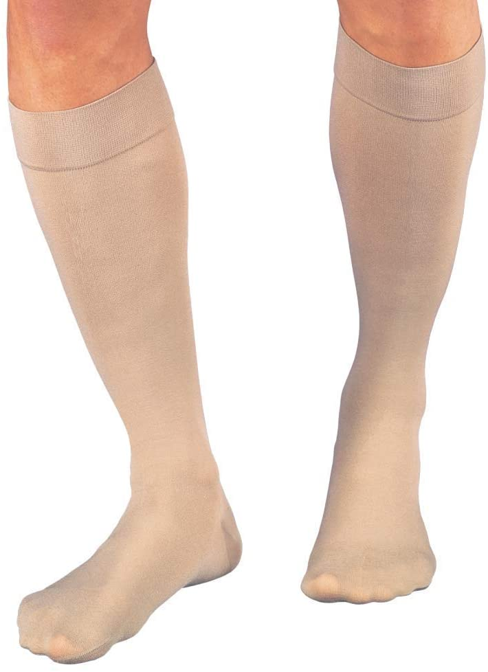 JOBST Relief Knee High 20-30 mmHg Compression Socks, Closed Toe, Beige, Small