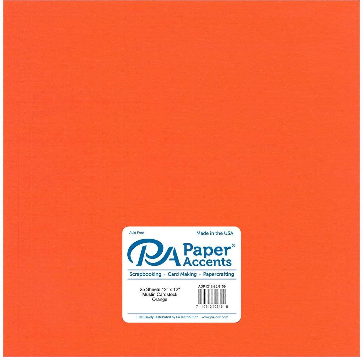 Cardstock 12 x 12 in. Muslin Orange (25 sheets)