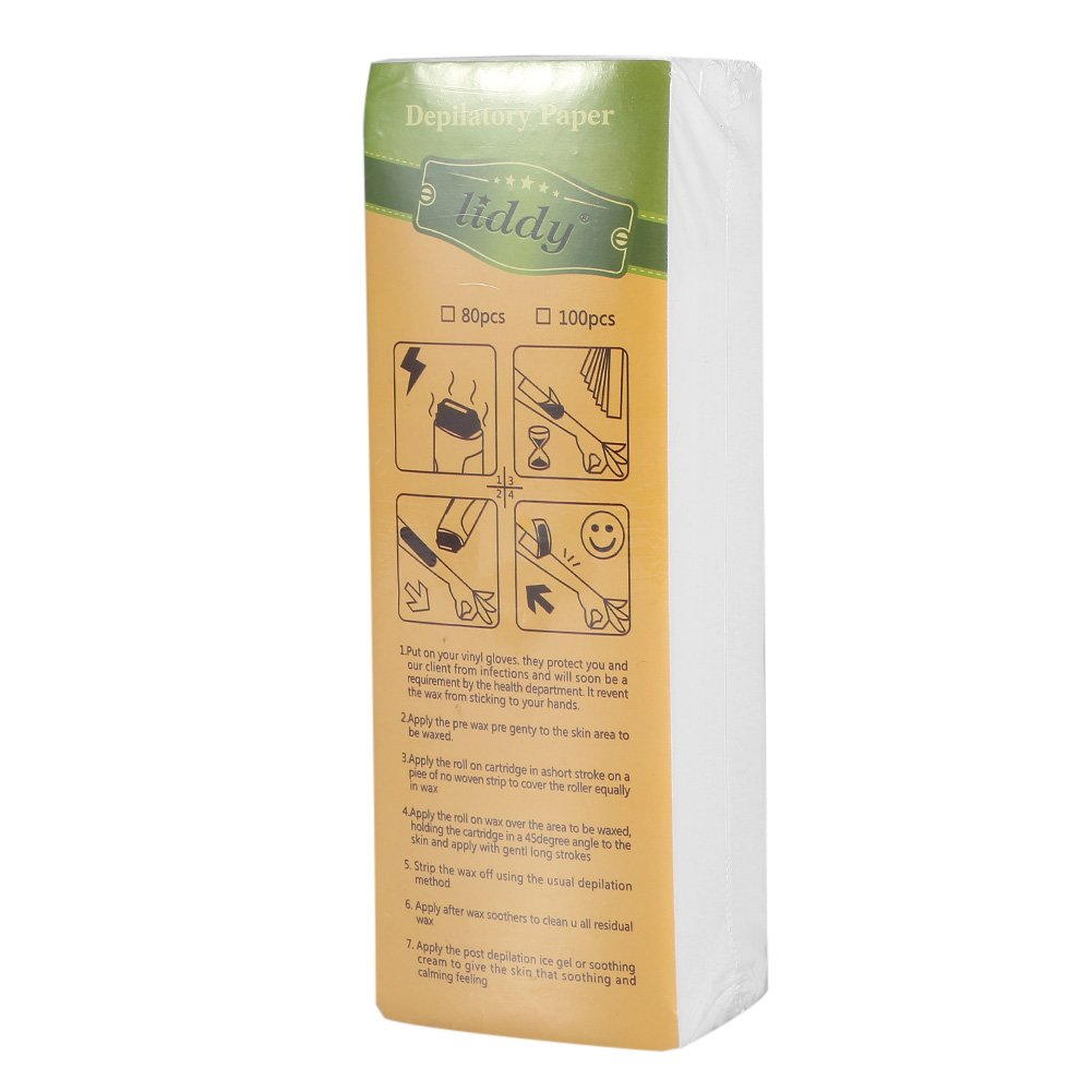 Hair Removal Paper,100Sheets/Bag Leg Arm Armpit Hair Removal Depilatory Nonwoven Epilator Waxing Strip Paper