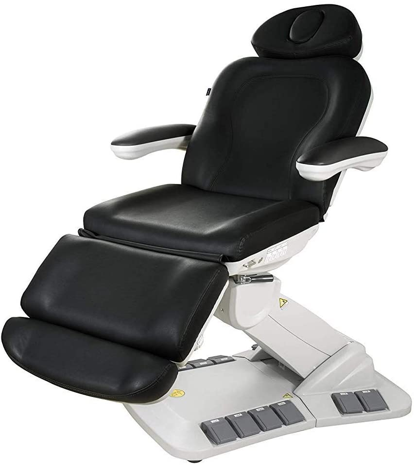 SPA SOURCE | PEDALI | Swivel 4 Motor Facial Bed | Medical Grade | Electric Powered Exam Table | Facial Chair | Exam Chair Table | Hydraulic Treatment Chair | Equipment 2246EB | Rotation | (Black)