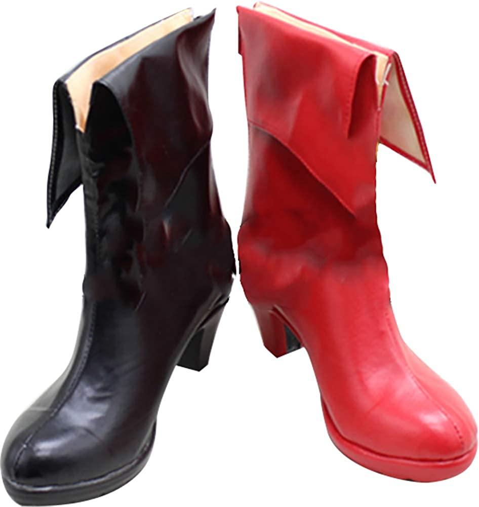 MINGCHUAN Whirl Cosplay Boots Shoes for Batman Harley Quinn High Heel