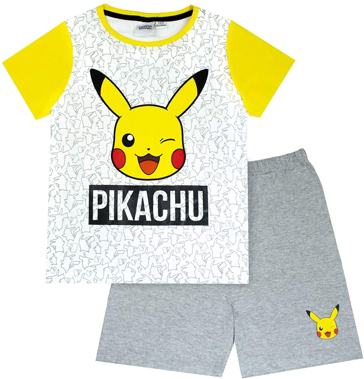 Pokemon Pikachu Face Boy's Short Pyjamas