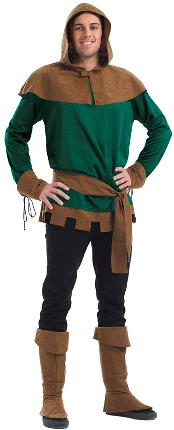 fun shack Mens Fairytale Costume Adults Medieval Prince of Thieves Outfit