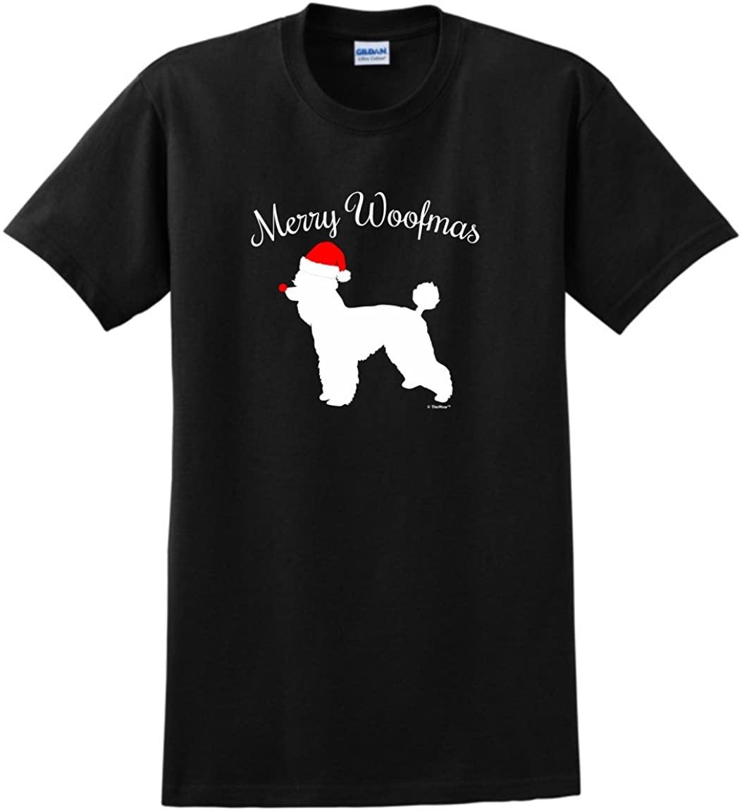 Merry Woofmas Dog Santa Hat Poodle Christmas T-Shirt